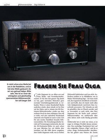 Fragen Sie Frau Olga - Horn Kultur