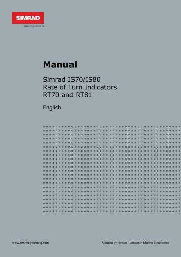 Simrad IS70& IS80 Rate of Turn Operation Manual
