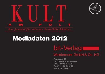 Mediadaten 2012 - bei Kult am Pult