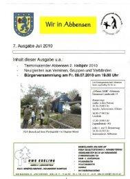 Terminkalender Abbensen 2. Halbjahr 2010 Neuigkeiten aus ...