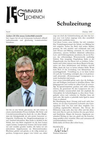 Schulzeitung - Ausgabe Herbst 2009 - Gymnasium Lechenich Erftstadt