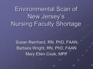 Environenmental Scan of New Jersey's Nursing Faculty Shortage