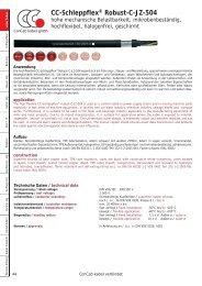 CC-Schleppflex® Robust-C-JZ-504 - ConCab kabel gmbh