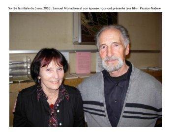 Soirée familiale du 5 mai 2010 : Samuel Monachon et son épouse ...
