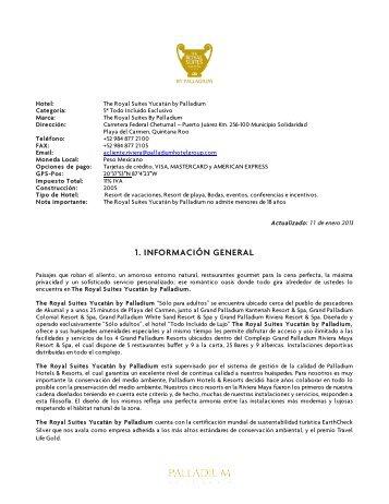1. INFORMACIÓN GENERAL - Palladium Hotel Group