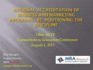 National Accreditation of Business and Marketing ... - Ohio ACTE