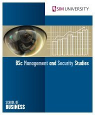 bachelor of science in management and security ... - SIM University