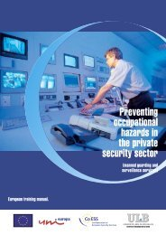 Preventing occupational hazards in the private security sector - CoESS
