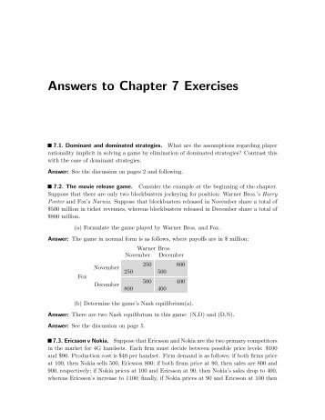 answer to exercises ch 12