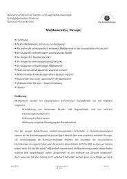 Medikamentöse Therapie - Deutsches Zentrum für Kinder