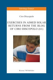 Exercises in Aimed Solar Returns from the Blog of ... - cirodiscepolo.it