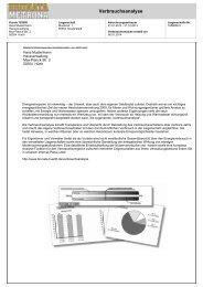 Verbrauchsanalyse Muster - BRUNATA Hürth