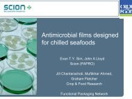 Antimicrobial films designed for chilled seafoods - Seafoodworkshop ...
