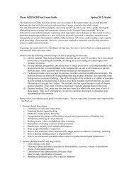 Chem 162/262 Midterm Exam Guide: