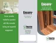 Encore Multi-point Locking System - Truth Hardware