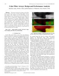 Color Filter Arrays: Design and Performance Analysis - Multimedia ...