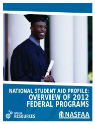 National Student Aid Profile: Overview of 2012 Federal Programs