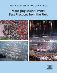 managing major events - best practices from the field 2011