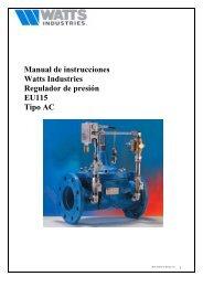 Manual de instrucciones Watts Industries Regulador de presión ...