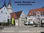 Umwelt, Ökologie und Grünstrukturen - Step-crailsheim.de