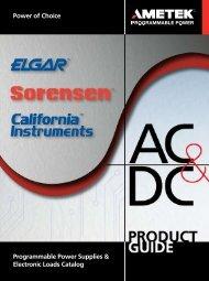 DCS Series : Product Specifications - AMETEK Programmable Power