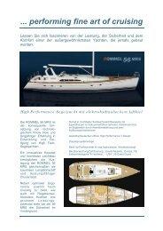 Performing Fine Art Of Cruising - rommel yachts