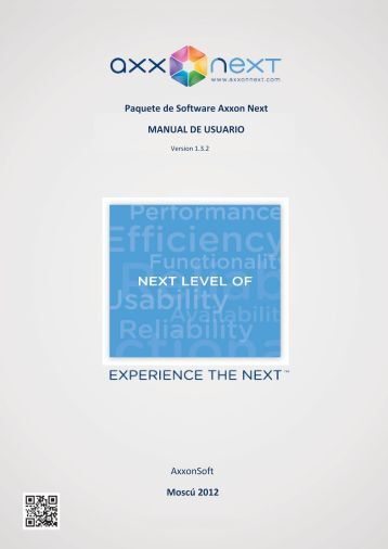 Paquete de Software Axxon Next MANUAL DE USUARIO AxxonSoft ...
