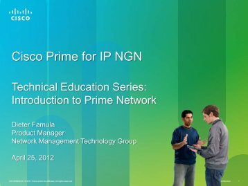 Cisco Prime for IP NGN - Cisco Knowledge Network