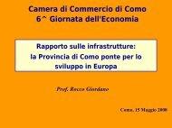Rapporto sulle infrastrutture - Camera di Commercio