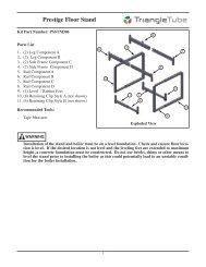 Prestige Floor Stand PSSTND06 - Triangle Tube