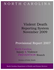 2007 Provisional Report FINAL - NC Injury and Violence Prevention ...