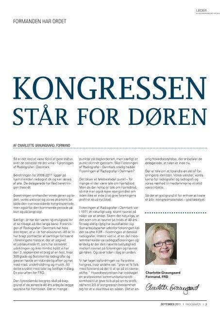 september 2011 - Foreningen af Radiografer i Danmark