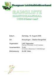 1000m-Run Thurgauer Final in Kreuzlingen 19.08 ... - LAR Tägerwilen