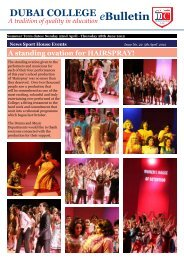 A standing ovation for HAIRSPRAY! eBulletin - Dubai College