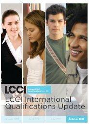 LCCI International Qualifications Update