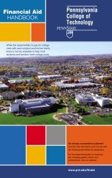 Financial Aid Handbook - Pennsylvania College of Technology