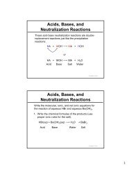 Acids, Bases, and Neutralization Reactions Acids, Bases, and ...