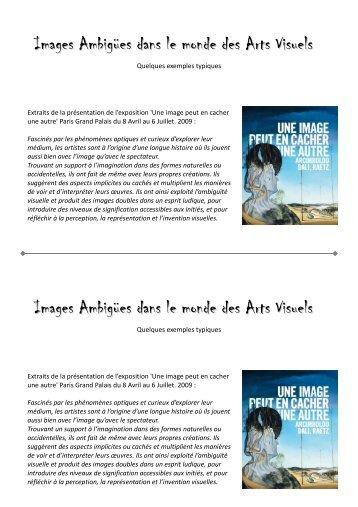 Images Ambigües dans le monde des Arts Visuels Images ... - Free