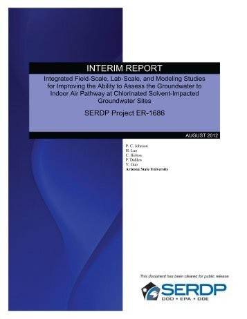 INTERIM REPORT - Strategic Environmental Research and ...