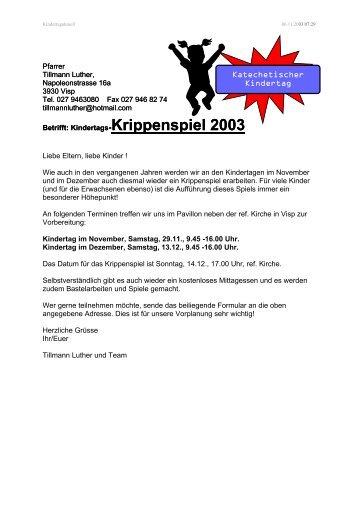 Krippenspiel 2003