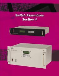 Switch Assemblies Section - JFW Industries