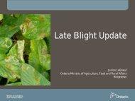 Late Blight Update, Janice LeBoeuf