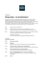 Rörliga bilder – rör det biblioteken? - Svensk Biblioteksförening