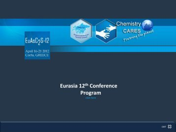 poster session - 12th Eurasia Conference on Chemical Sciences