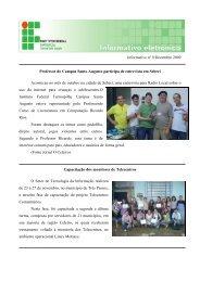 Boletim Informativo - Dezembro/2009 - Instituto Federal Farroupilha