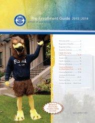 Pre-Enrollment Guide 2013 2014 - Fisher College