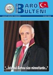 ‹stanbul Barosu size minnettard›r... - İstanbul Barosu