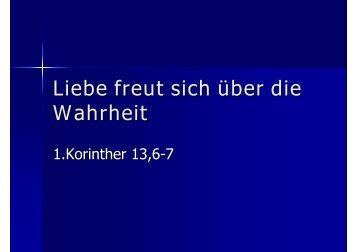 Was ist Wahrheit? - EFG Hemsbach