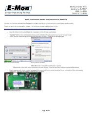 Communication Gateway Utility Instructions for meters with ... - E-Mon