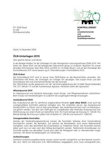 Unterlagen 2010_begleit - St.Galler Bauernverband